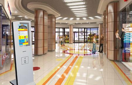 Информационный терминал Платан в ТЦ Полесье