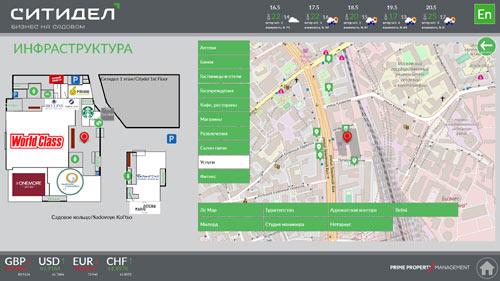 Категории объектов на интерактивной карте