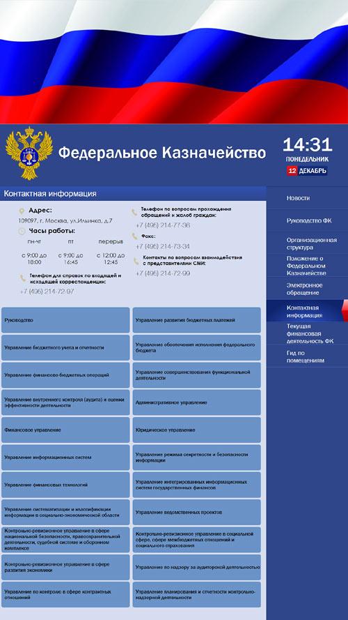 Список филиалов казначейства