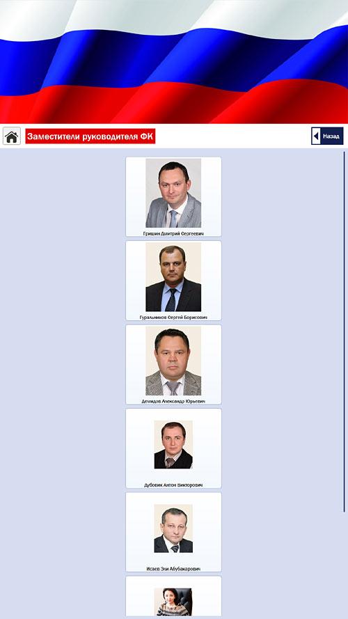 Раздел «Руководство» с фотографиями