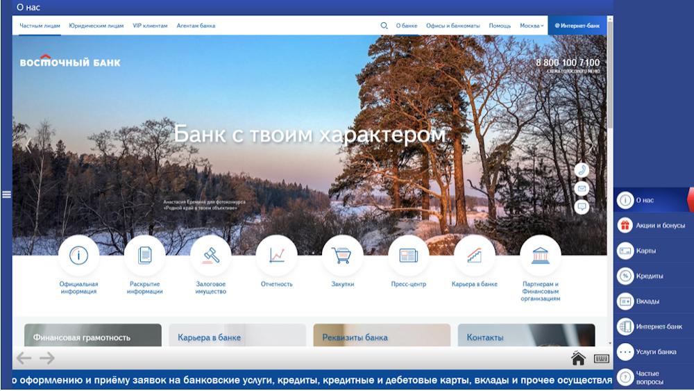 Панель управления браузера