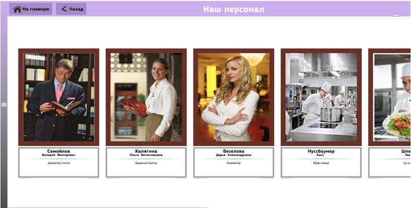 Интерактивный комплекс «ТачИнформ: Отель» - портретная галерея